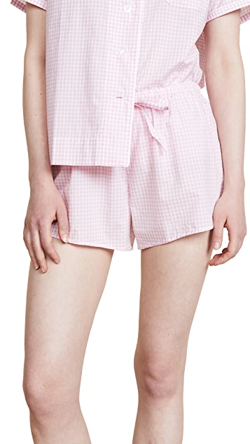 Sleepy Jones Small Gingham Paloma Shorts