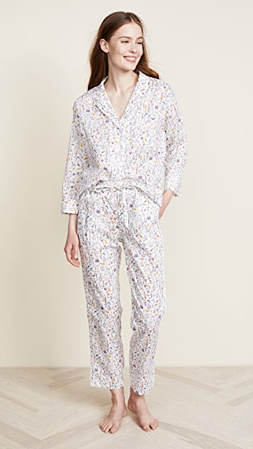 Sleepy Jones Liberty Theo Birds Marina Pajama Shirt