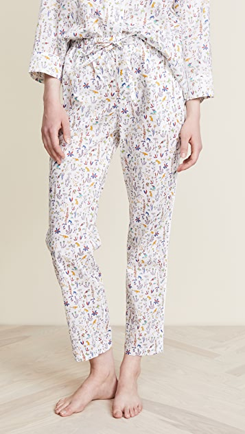 Sleepy Jones Liberty Theo Birds Marina Pajama Pants