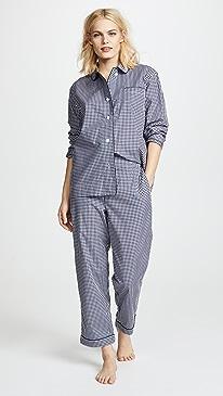 Large Gingham Bishop Pajama Set