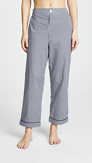 Sleepy Jones Large Gingham Bishop Pajama Set hYF9FYRi