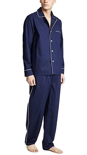 Sleepy Jones Cotton Poplin Lowell PJ Set