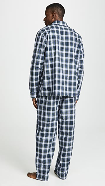 Sleepy Jones Stewart Plaid Lowell PJ Set