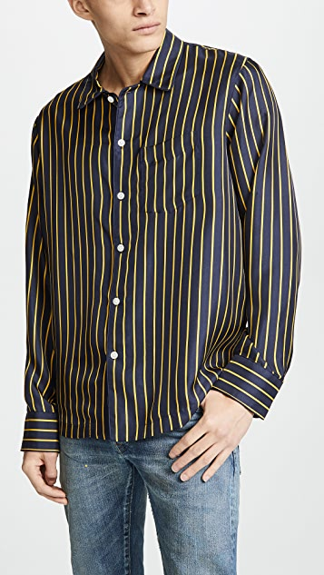 Sleepy Jones Silk PJ Shirt