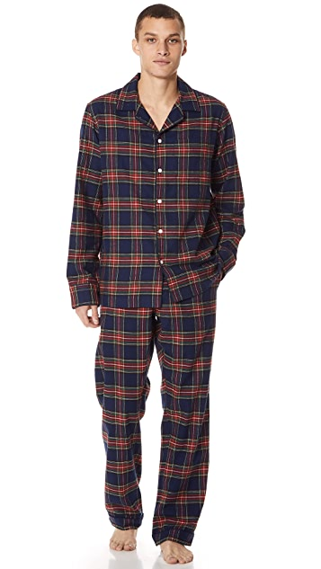 Sleepy Jones Stewart Flannel Pajama Bottoms