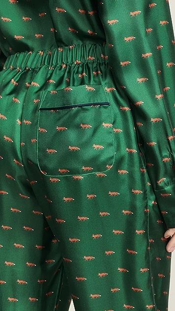 Sleepy Jones Silk Marcel Pajama Pants