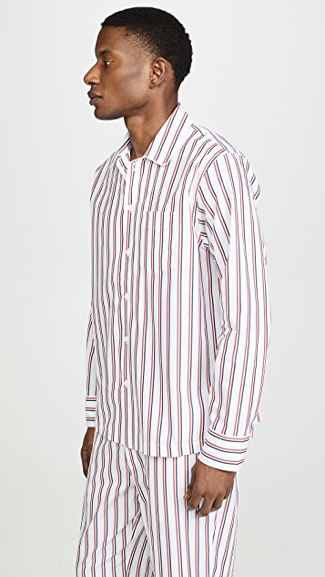 Sleepy Jones Dual Stripe Henry PJ Top