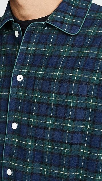 Sleepy Jones Henry Pajama Set In Blackwatch Flannel