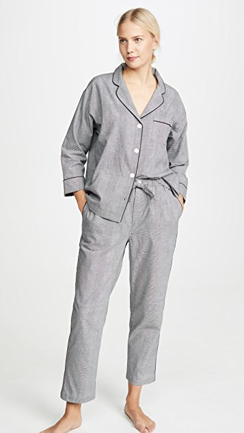 Sleepy Jones Glen Plaid PJ Set