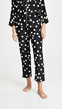 Silk Large Polka Dot PJ Bottoms