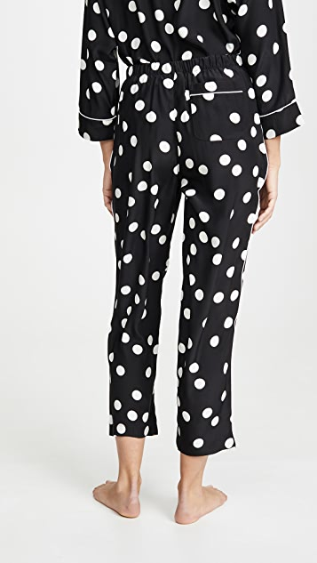 Sleepy Jones Silk Large Polka Dot PJ Bottoms