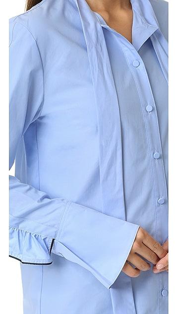 SJYP Ruffle Sleeve Blouse