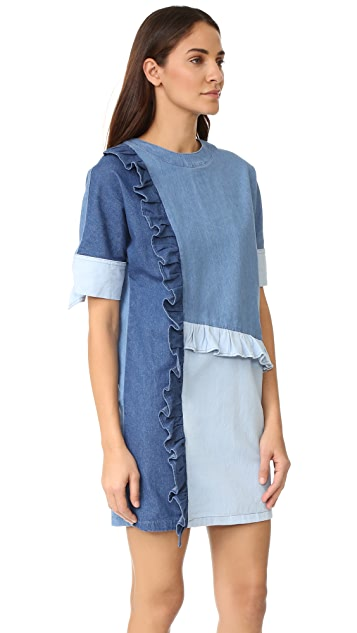 SJYP Denim Frill Dress