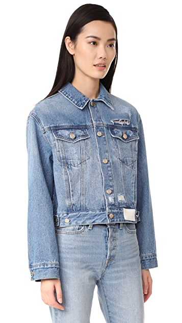 SJYP Back Button Denim Jacket