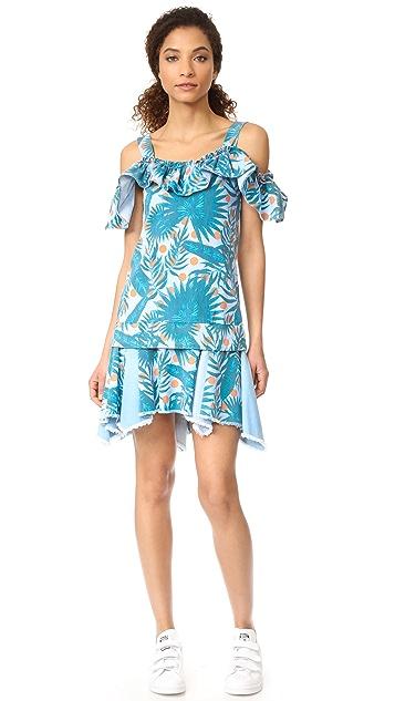 SJYP Hawaiian Print Denim Dress