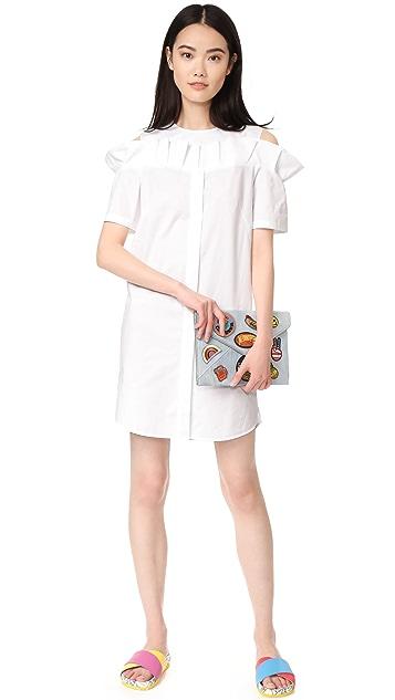 SJYP Frill Cut Button Dress