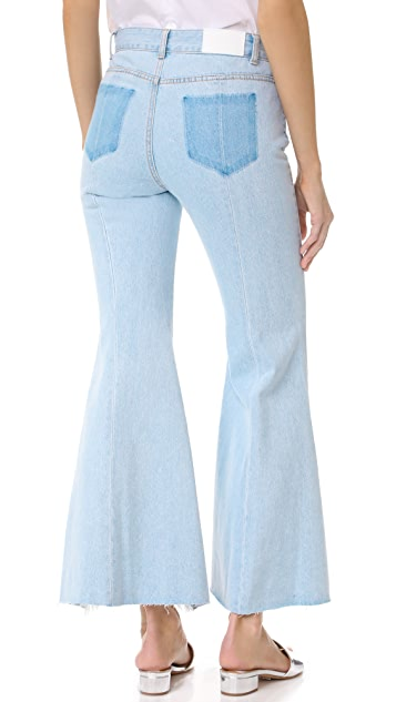 SJYP Front Cutoff Jeans