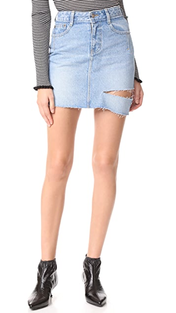 SJYP One Side Cut Denim Skirt