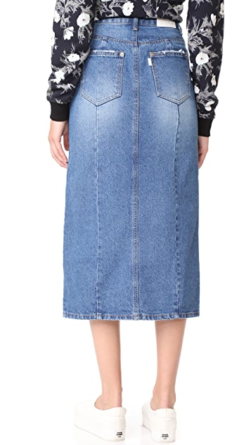 SJYP Front Slits Denim Skirt