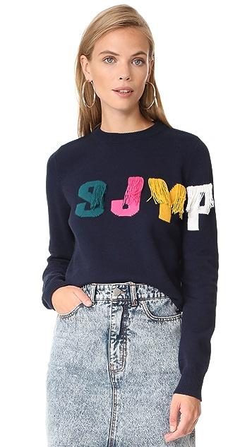 SJYP SJYP Logo Fringe Pullover