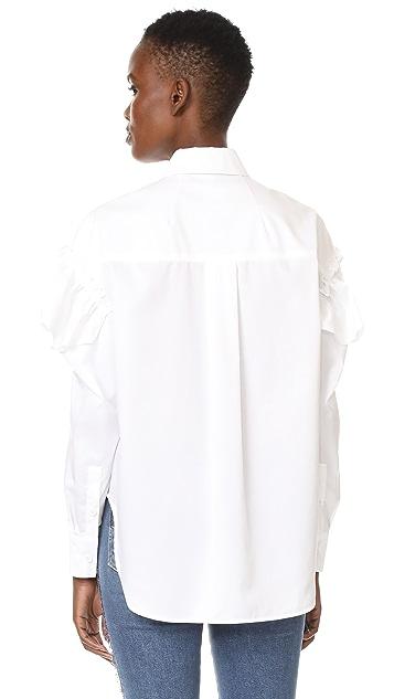 SJYP Frill Sleeve Blouse