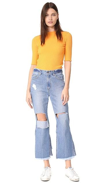 SJYP Back Strap Detail Jeans