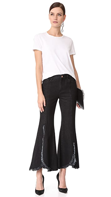 SJYP Cutoff Wide Jeans