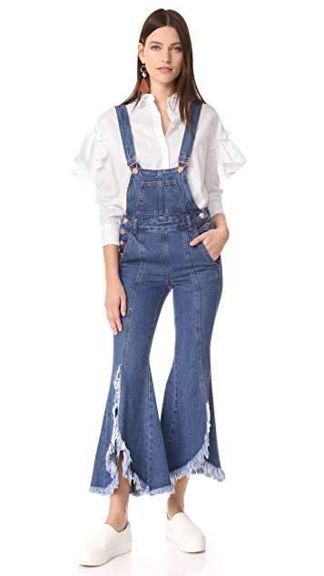 SJYP Cutoff Denim Overalls