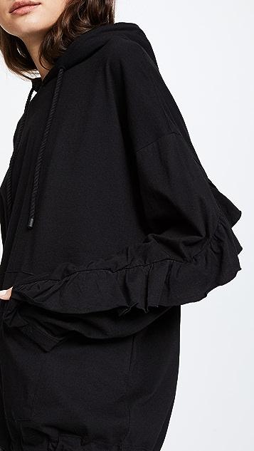 SJYP Frill Sleeves Hoodie