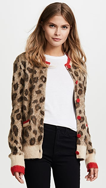 SJYP Leopard Knit Cardigan
