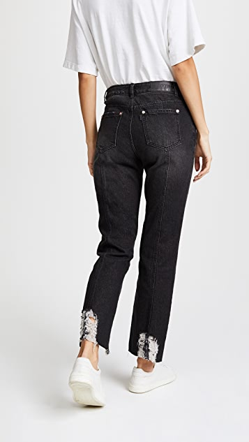 SJYP Destroyed Hem Boyfriend Jeans
