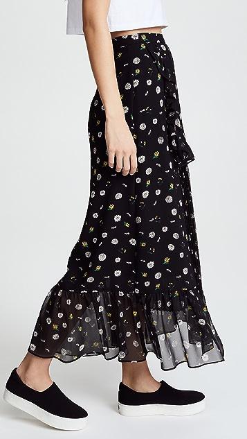 SJYP Flower Printed Long Skirt