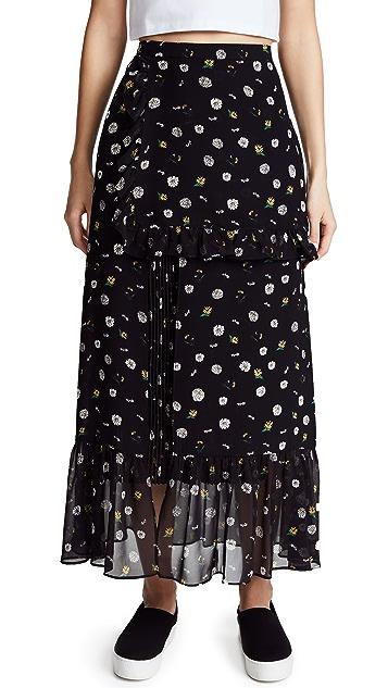 ... SJYP Flower Printed Long Skirt