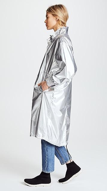 SJYP Metallic Long Hoodie