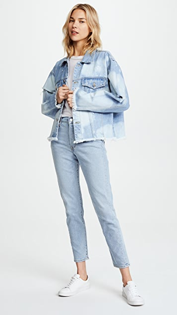SJYP Washed Denim Jacket