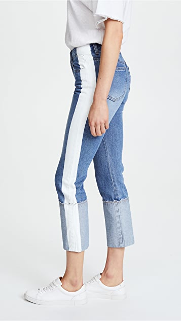 SJYP Painted Roll Up Jeans