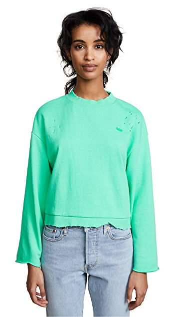 SJYP Destroyed Short Sweatshirt