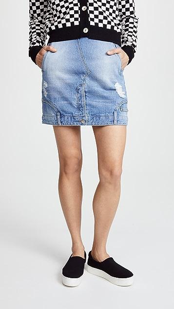 SJYP Reverse Detail Denim Skirt