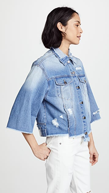SJYP Reverse Detail Denim Jacket
