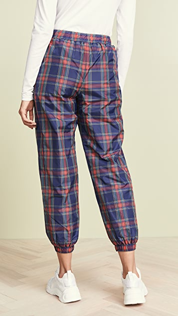 SJYP Reversible Check Track Pants