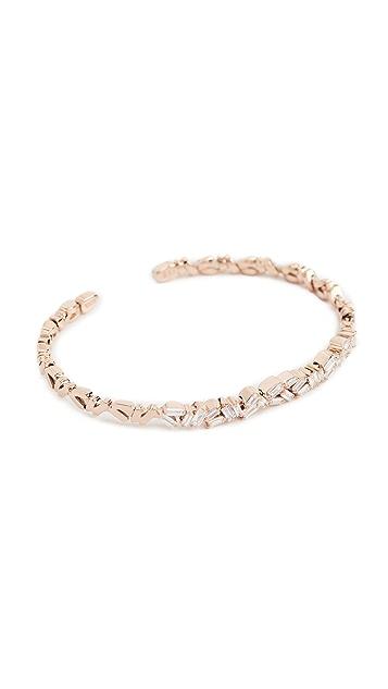 Suzanne Kalan Fireworks 18k Gold Diamond Double Baguette Bracelet