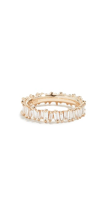Suzanne Kalan 18k Gold Diamond Baguette Ring - Yellow Gold