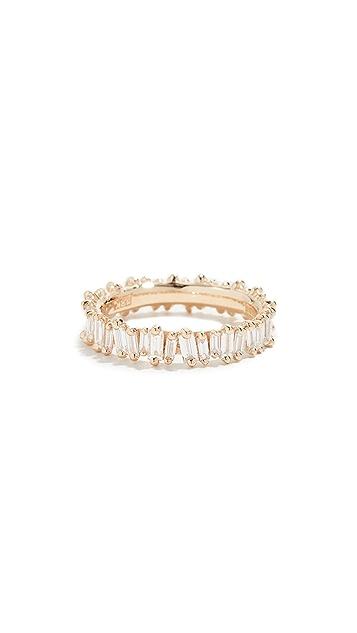 Suzanne Kalan 18K 金钻石长方形戒指