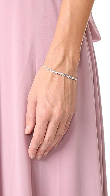 Suzanne Kalan Fireworks 18k Gold Vertical Diamond Baguette Bracelet