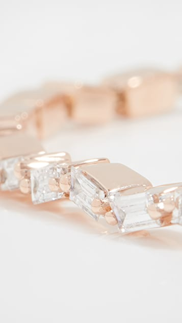 Suzanne Kalan 18k Fireworks Gold Diamond Baguette Bracelet