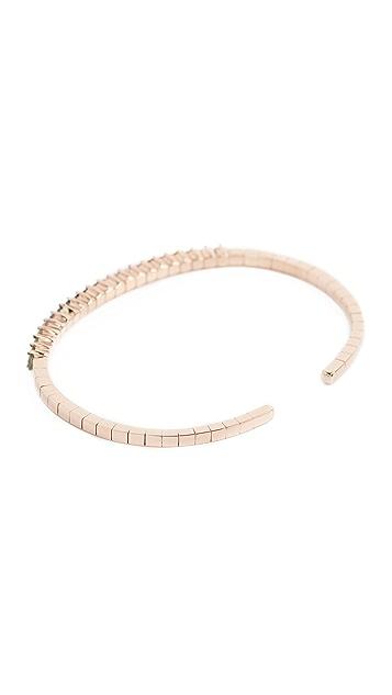 Suzanne Kalan Fireworks 18k Gold Rainbow Sapphire Cuff Bracelet
