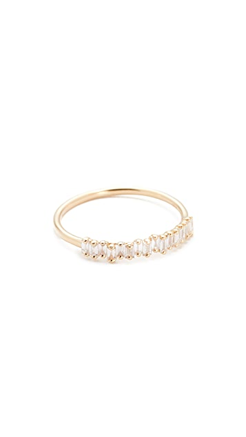 Suzanne Kalan Fireworks 18k Gold Diamond Half Band Ring