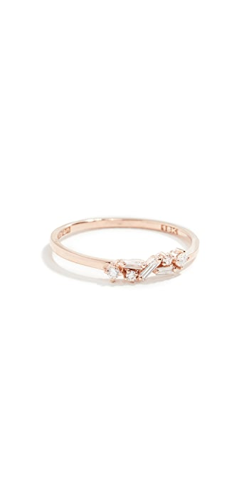 Suzanne Kalan Fireworks 18k Gold Diamond Cluster Ring - Rose Gold