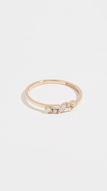 Suzanne Kalan Fireworks 18k Gold Diamond Cluster Ring