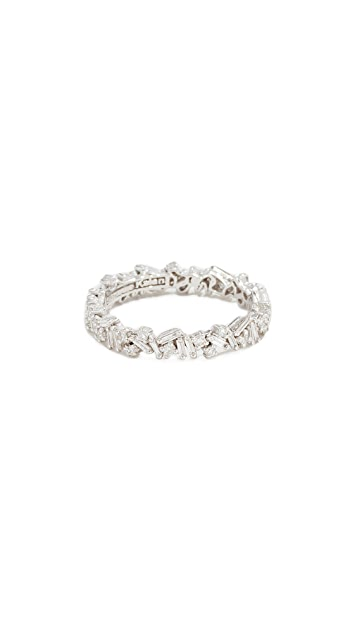 Suzanne Kalan Кольцо Fireworks Eternity Band из 18-каратного золота